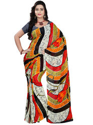 Florence Faux Georgette  Printed  Sarees FL-10960