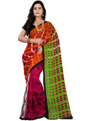 Florence Faux Georgette  Printed  Sarees FL-10997
