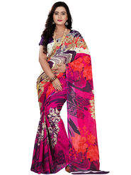 Florence Faux Georgette  Printed  Sarees FL-11004
