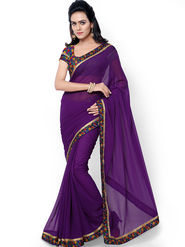Florence Embroidered  Faux Georgette  Saree -FL-11756