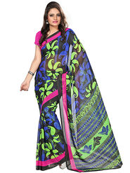 Florence Faux Georgette  Printed  Sarees FL-3176-C