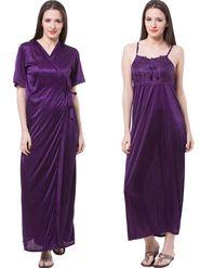 Pack of 2 Fasense Satin Plain Nightwear - DP111 E