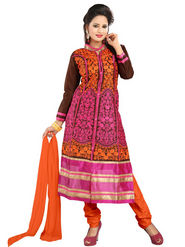 Florence Cotton Embroidered Dress Material - Multicolour - SB-2059