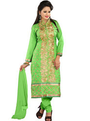 Florence Cotton Embroidered Dress Material - Green - SB-2063