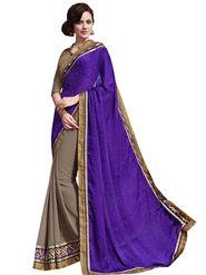 Bahubali Georgette and Crepe Jacquard Embroidery Saree -GA20030