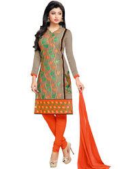 Khushali Fashion Chanderi Embroidered Dress Material -Gfblbl710020