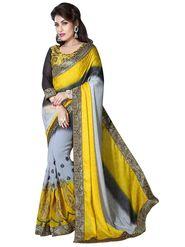 Khushali Fashion Embroidered Georgette Half & Half Saree_KF52
