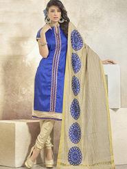 Viva N Diva Banglori Patch Work Unstitched Dress Material Gazee-8008