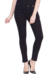 Hip Cover Black Stretchable Ankle Length Jeans -ma72