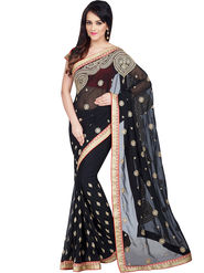 Shonaya Designer Embroidered Georgette Saree - HIIMX-6046