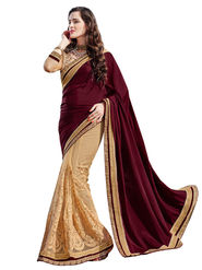 Branded Satin Chiffon Printed Saree -HT70101