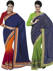 Pack of 2 Bahubali Embroidered Sarees - GAL878
