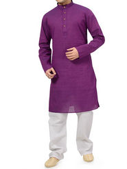 Ishin Cotton Plain Kurta Pajama For Men_indsh-105 - Purple