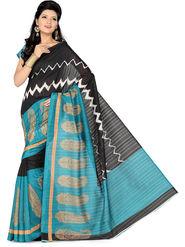 Ishin Bhagalpuri Silk Printed Saree - Multicolor - ISHIN-1781
