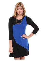 Kaxiaa Poly Lycra Plain Dresses -K-DR-31006B