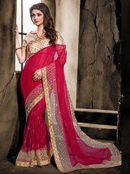 Viva N Diva Georgette & Net Floral Embroidery Saree -Kalki-03-3006