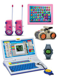 Kids Talking Laptop + Binocular + Watch + Free Walkie Talkie