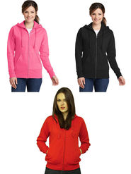 Combo of 3 Lavennder Solid Fleece Pink Black & Red Hooded Sweatshirt -LSS-1056