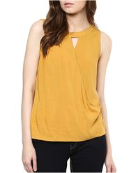 Lavennder Rayon Solid Yellow Top LW-5546