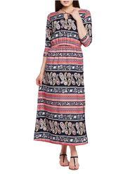 Lavennder Crepe Printed Dress LW-5583
