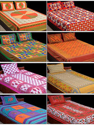Rangbirang Rangoli 4 Double & 4 Single Bed Sheets with 12 Pillow Covers