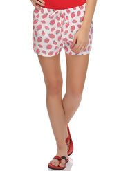 Clovia Cotton Blend Graphic Print Shorts -NS0544P18