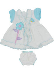 Ole Baby Stylish  Cap Sleeves Frock_OB-FRCKF-385