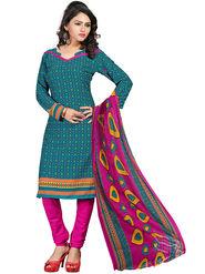 Khushali Fashion Crepe  Printed Unstitched Dress Material -PFCS501