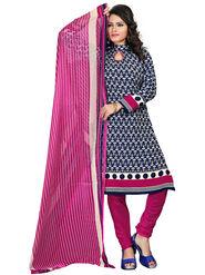 Khushali Fashion Crepe  Printed Unstitched Dress Material -PFCS504