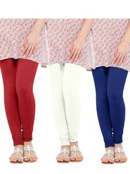 Pack of 3 Oh Fish Solid Cotton Stretchable Leggings -zwe73