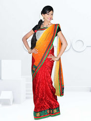 Radiant Maroon & Yellow Designer Saree from Varudhini Parinayam (DNo3)
