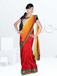 Radiant Maroon & Yellow Designer Saree from Varudhini Parinayam (DNo3)