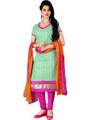 Khushali Fashion Chanderi Embroidered Unstitched Dress Material -SDSN8002