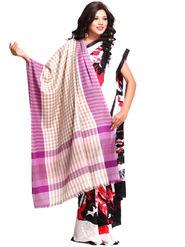 Aapno Rajasthan Pashmina  Lilac & Vanilla Brown  Shawl -Sh1386
