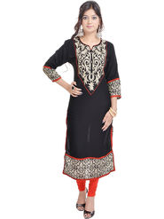 Shop Rajasthan Embroidered Cotton Long Straight Kurti -Sre2359