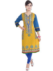 Shop Rajasthan Printed Cotton Straight Kurti -Sre2375