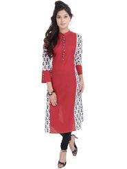 Shop Rajasthan Printed Cotton Long Straight Kurti -Sre2458