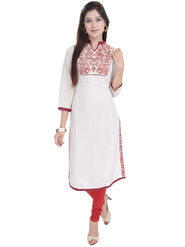 Shop Rajasthan Solid Cotton  Long Straight Kurti -Sre2462