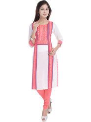 Shop Rajasthan Printed Cotton Straight Kurti -Sre2464