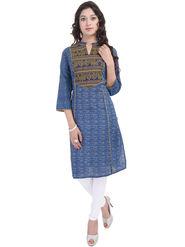 Shop Rajasthan Printed Cotton Straight Kurti -Sre2496