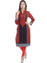 Shop Rajasthan Printed Cotton Straight Kurti -Sre2504