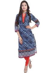 Shop Rajasthan Printed Cotton Long Straight Kurti -Sre2506