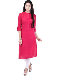 Shop Rajasthan Solid Cotton Straight Kurti -Sre2544