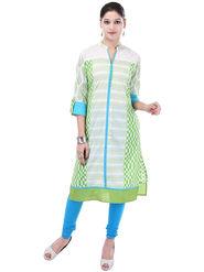 Shop Rajasthan Printed Cotton Long Straight Kurti -Sre2554