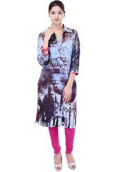 Shop Rajasthan Printed Cotton Straight Kurti -Sre2559
