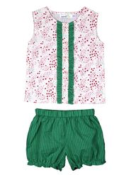 ShopperTree Printed and Stripped Multicolor Yarn Dyed Cotton Twin set-ST-1721