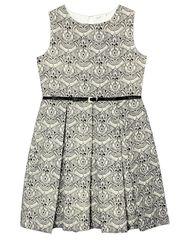 ShopperTree Solid and printed Black Cotton Melange Dress-ST-1732