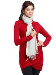 Aapno Rajasthan Pashmina  Grey Shawl -St1403