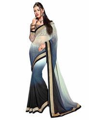 Khushali Fashion Georgette Embroidered Saree -Stast3205