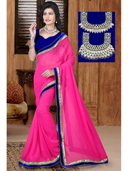 Viva N Diva Georgette Embroidered Saree Sangini-182